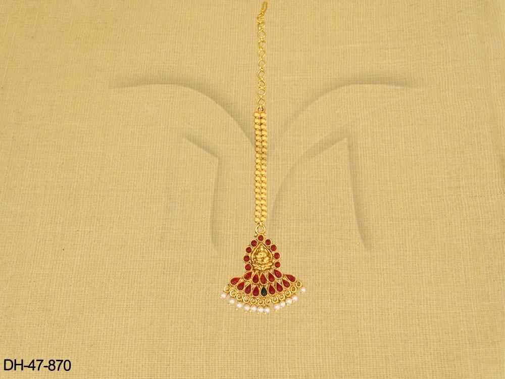 Traditional Kemp jewellery Mang Tikka