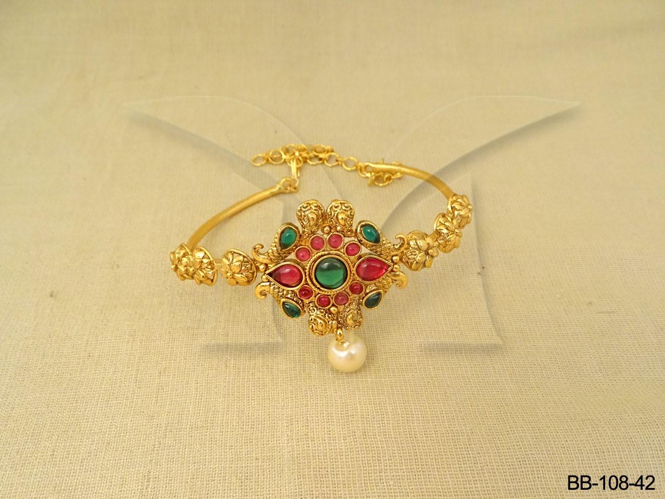 Kempu Stone Jewellery Bajuband
