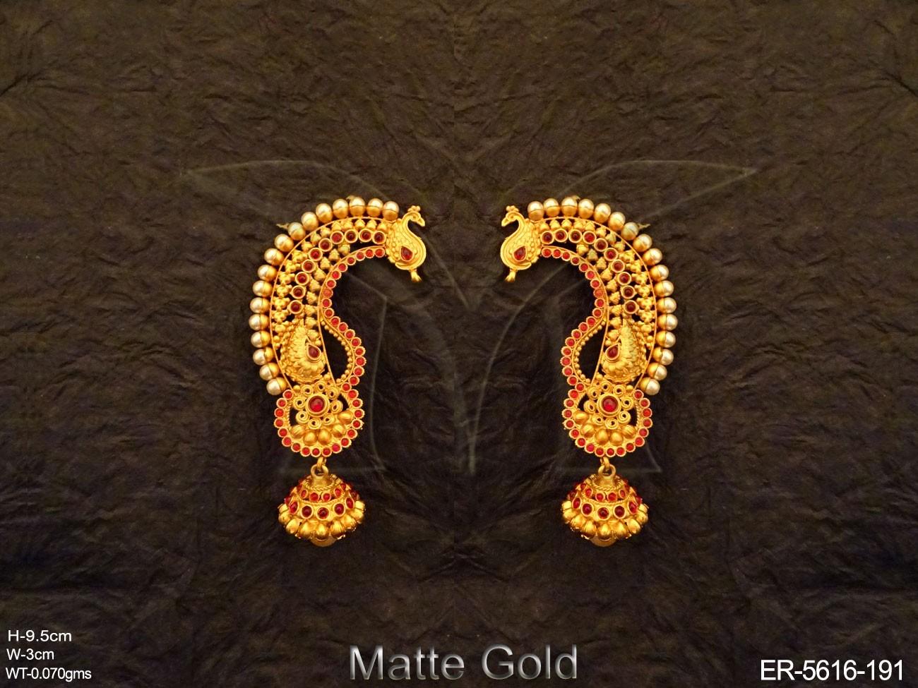 Peacock Shape Kemp Earrings