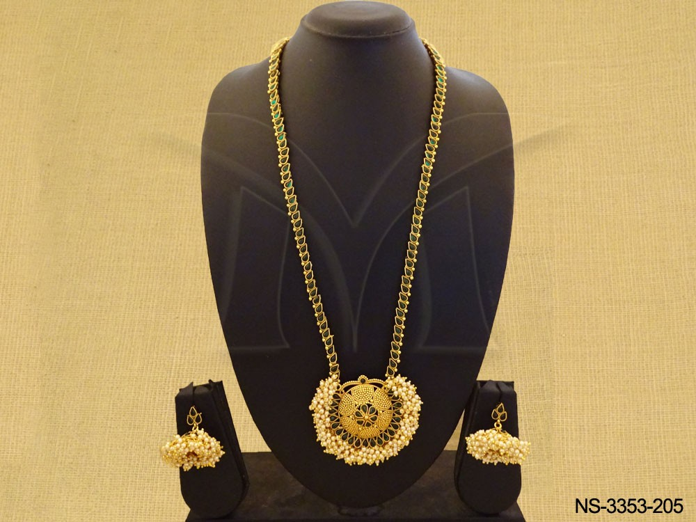 Long Bollywood Kemp Necklace Set