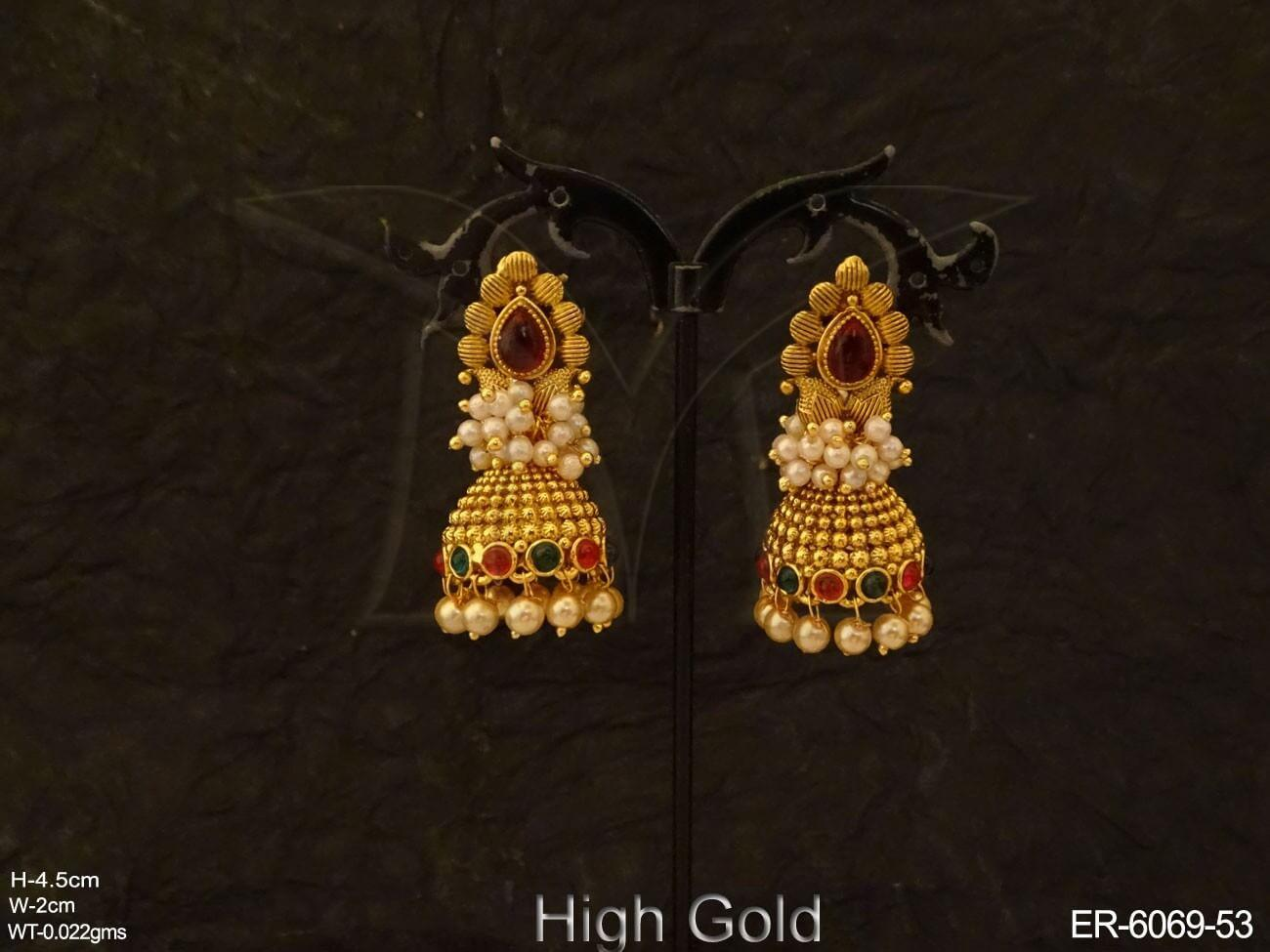 Traditional Jhumki Kemp Earrings