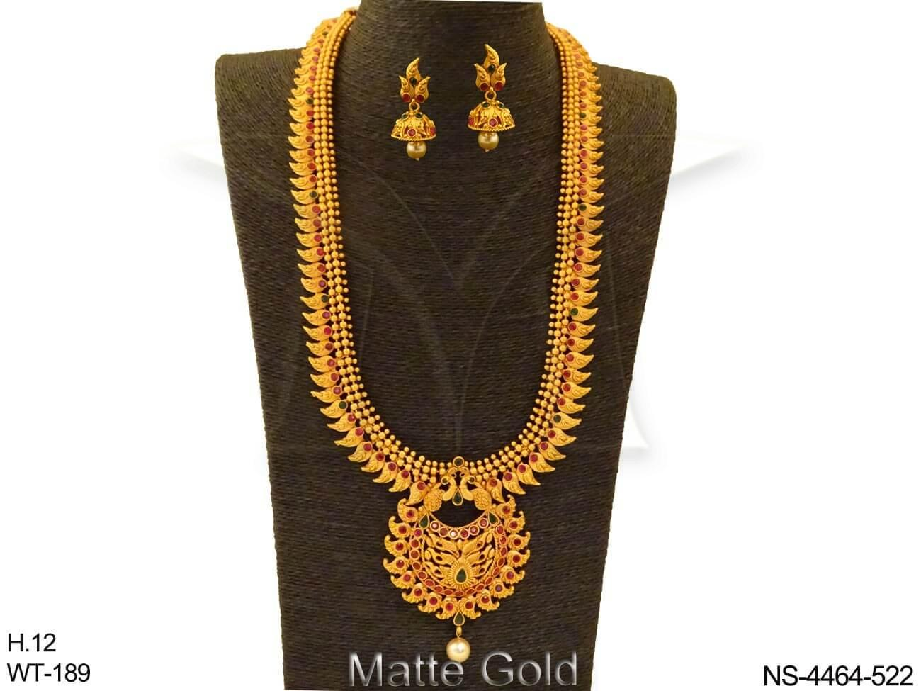 Long Sount Morni Style Kemp Necklace Set
